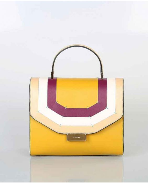 Visone 'Angie' Leather Tote - African Yellow