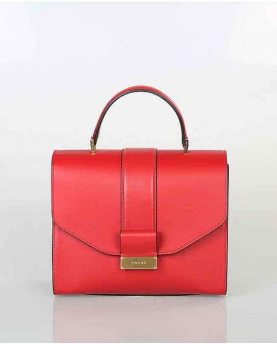 Visone 'Angie' Leather Tote - Red