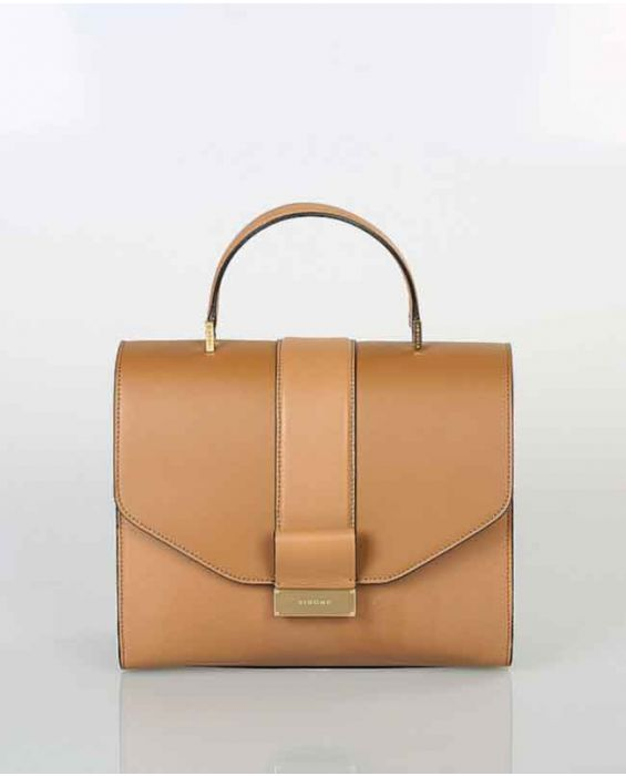 Visone 'Angie' Leather Tote Bag - Brown