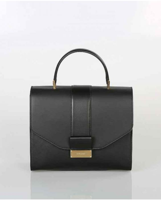 Visone 'Angie' Leather Tote Bag - Black