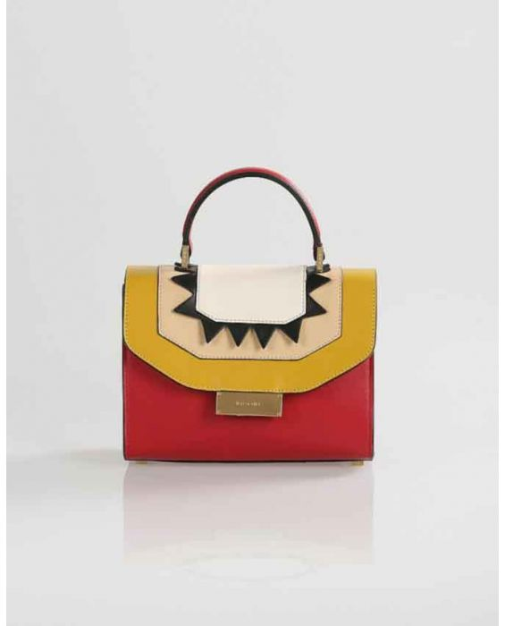 Visone 'Angie' Mini Leather Tote - Red